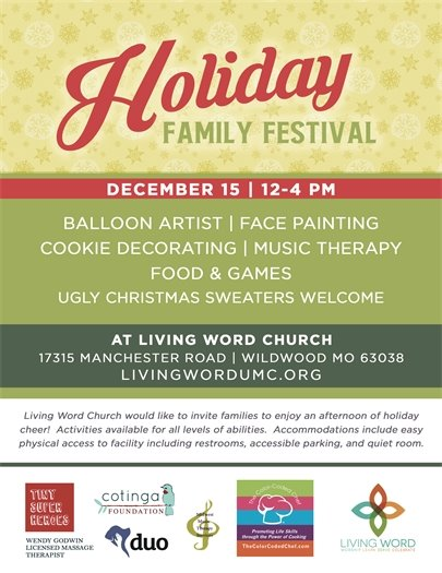 Holiday Family Festival @ Living Word Church - December 15, 2018